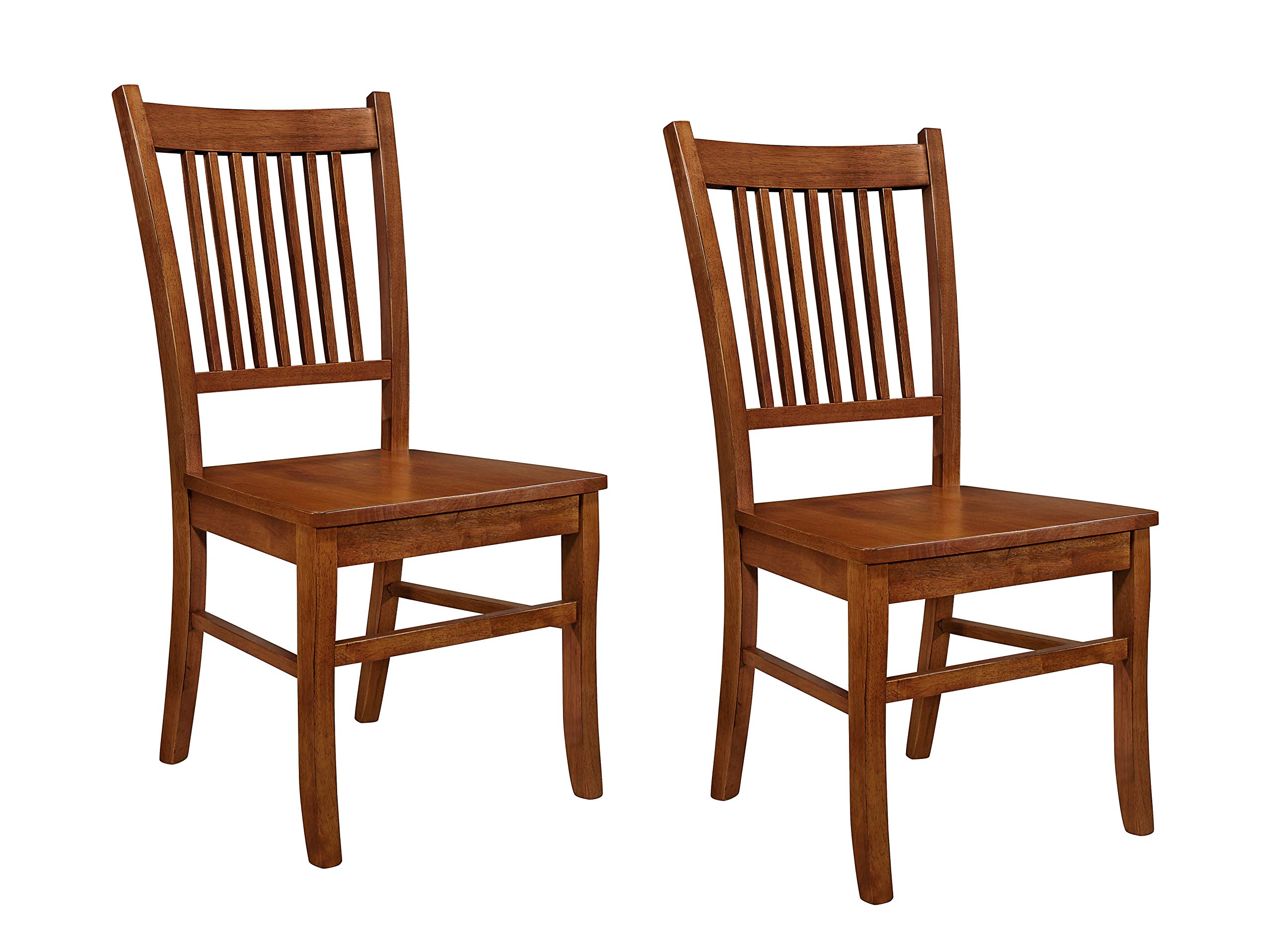 Marbrisa Slat Back Side Chairs Sienna Brown (Set of 2) by Coaster Home Furnishings