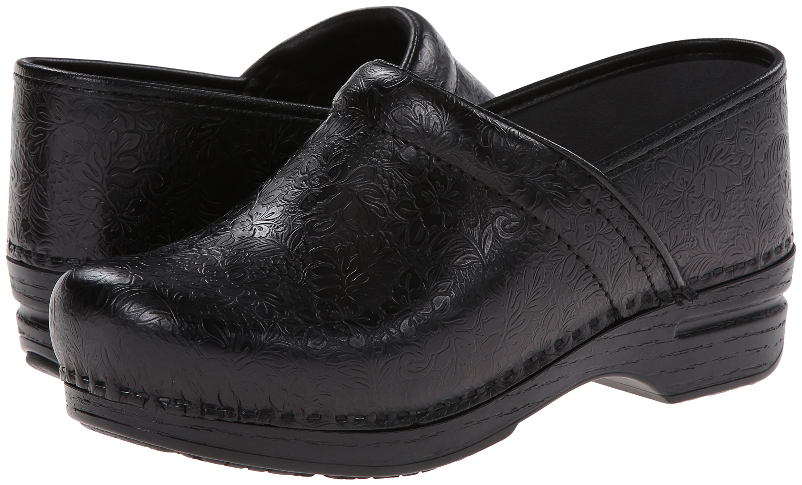 Dansko Women's Pro XP Mule,Black Floral Tooled,39 EU/8.5-9 M US by Dansko (Image #6)