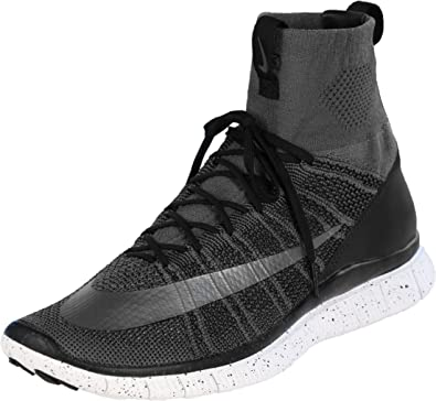 NIKE Free Flyknit Mercurial CR7 805554 004 GreyBlackWhiteSilver Men's Shoes (Size 13)
