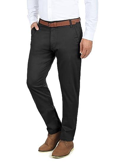633e26124282 Solid Machico Pantalon Chino pour Homme avec Ceinture Extensible Coupe  Régulaire, Taille W30