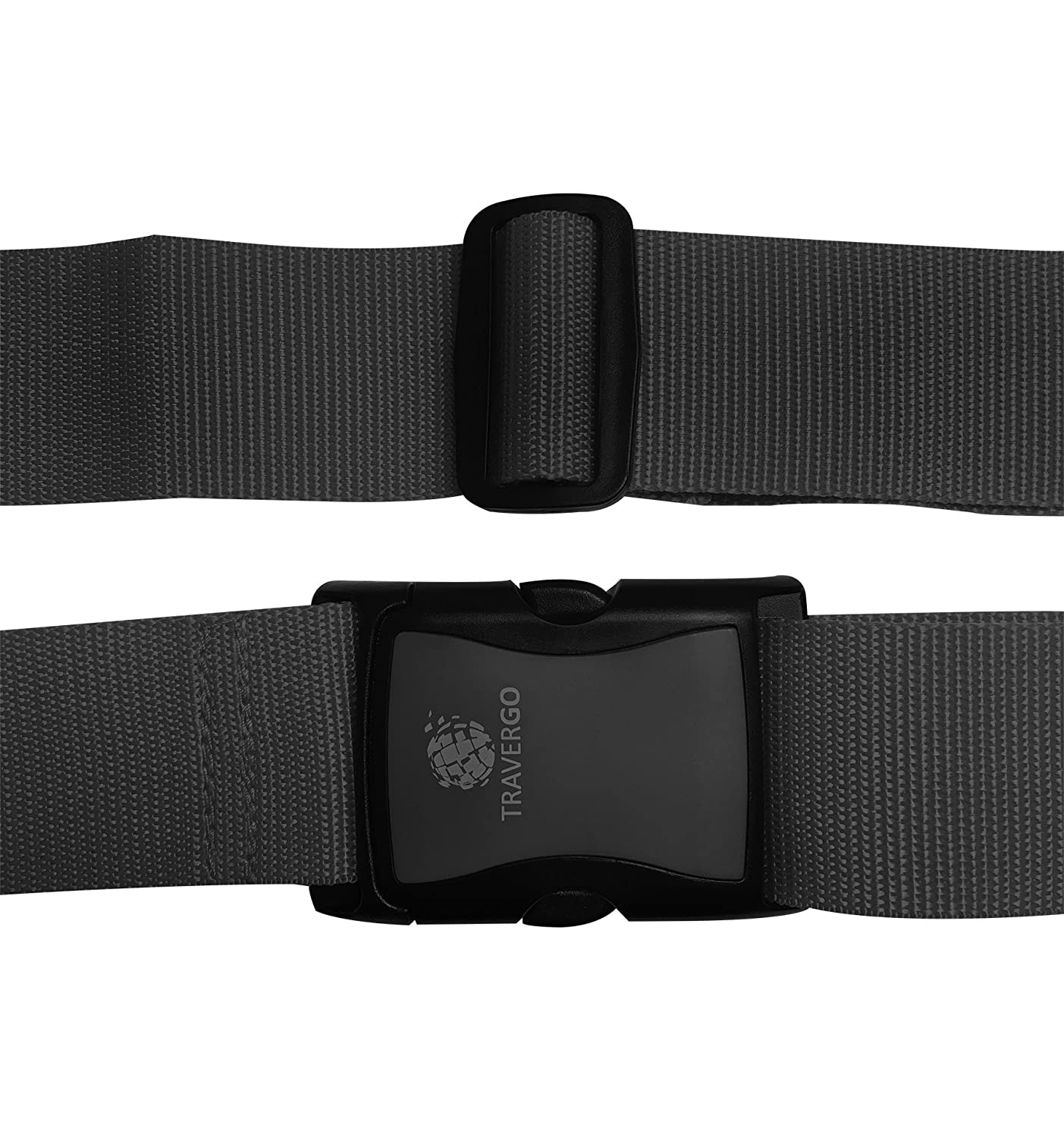 Black Go Green Power Solid Color Luggage Strap 0.36 Pound