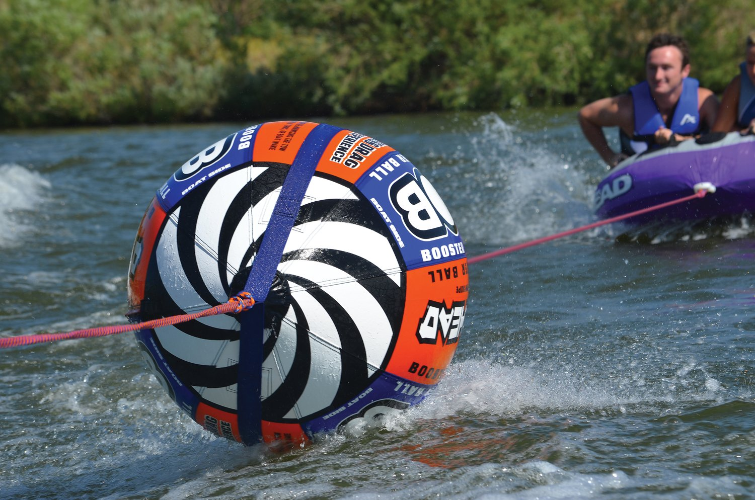 Airhead Ahbob 1 Bob Tow Rope W Inflatable Buoy Booster Harness Ball Lake Towables Tubes Sports Outdoors