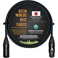 6 Foot – Quad Balanced Microphone Cable Custom Made by WORLDS BEST CABLES – Using Mogami 2534 Wire and Neutrik NC3MXX-B…