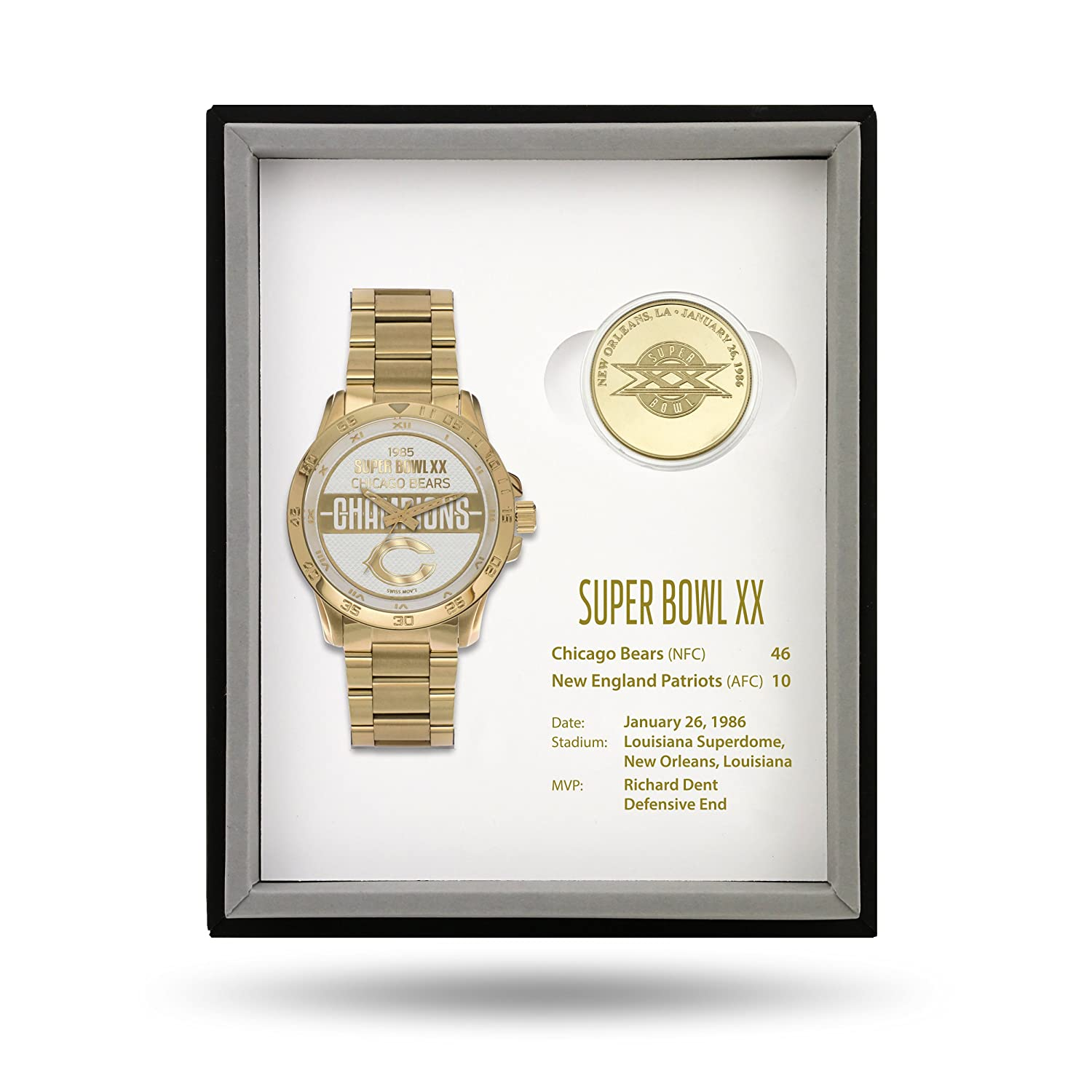 NFL Super Bowl Watch and Coin Gift Sets