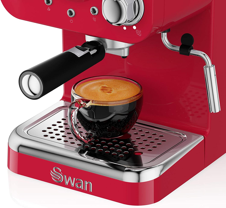 Swan cafetera Espresso SK22110RN, retro, color rojo.: Amazon.es: Hogar
