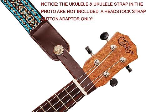 Gitarren Ukulele Gurtschnalle Gitarrengurthaken für Akustik Folk Gitarre