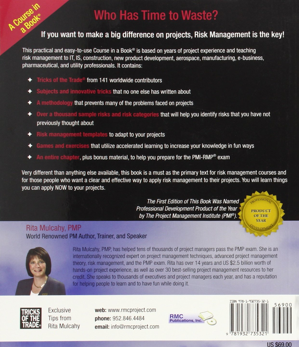 Risk Management Tricks Of The Trade For Project Managers Pmi Rmp