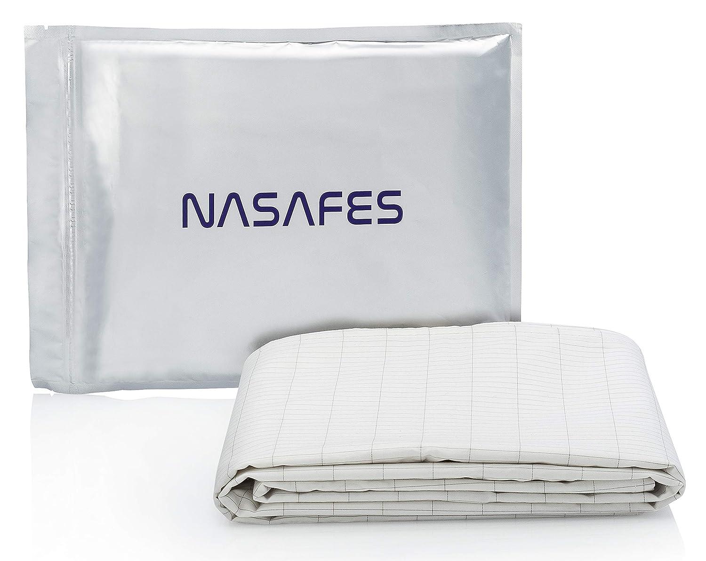 大地と繋がるアーシング健康法用 アーシングコットンシーツ 280 x 80 cm - グラウンドシート - グラウンディングシート - 健康的な睡眠のためのシルバー糸のコットンシート。(ホワイト) B07CZ3RFZR