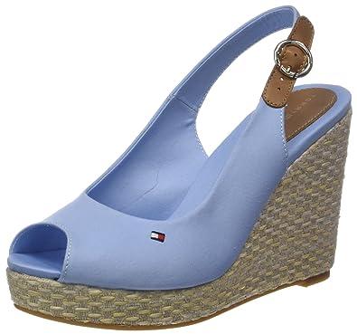 Tommy Hilfiger Iconic Elena Basic Sling Back, Espadrilles Femme, (Chambray Blue 407), 39 EU