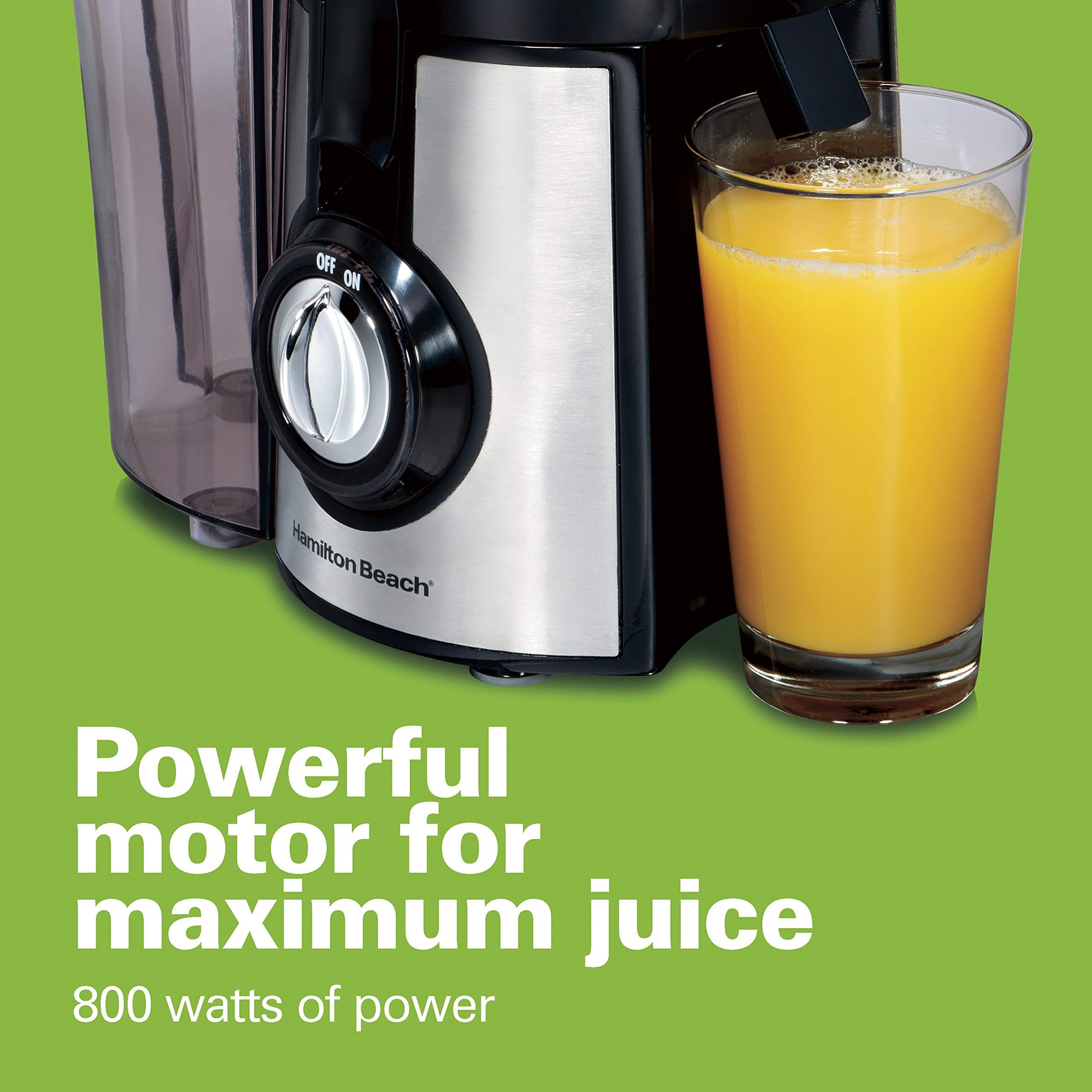 Hamilton Beach 040094922635 (67608A) Juicer, Electric, 800 Watt, Easy to Clean, BPA Free, Large, Silver (Renewed) by Hamilton Beach (Image #5)