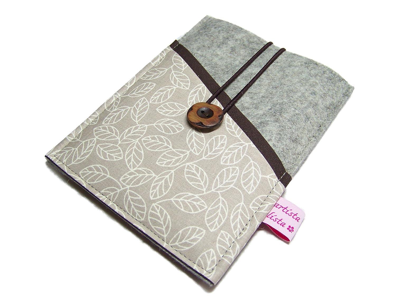 eBook Reader eReader Hülle Wollfilz Filz + Stoff Blätterrausch, Maßanfertigung, z. B. für Tolino Epos Maßanfertigung z. B. für Tolino Epos