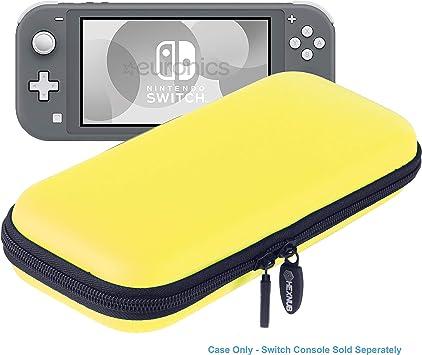 Hexnub Estuche Funda de Transporte para Consola Nintendo Switch Lite con Capacidad para 8 Juegos Cargador Accesorios Carcasa Protectora compacta Dura antigolpes (Amarillo): Amazon.es: Juguetes y juegos