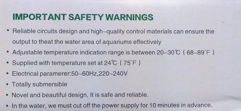 Happie Shop Aquagrace Ss - 100W Aquarium Submersible Glass Heater Thermostat