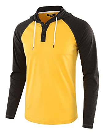 30bacd42 Estepoba Men's Athletic Fit Lightweight Henley Hooded Pullover Jersey Shirt  at Amazon Men's Clothing store: