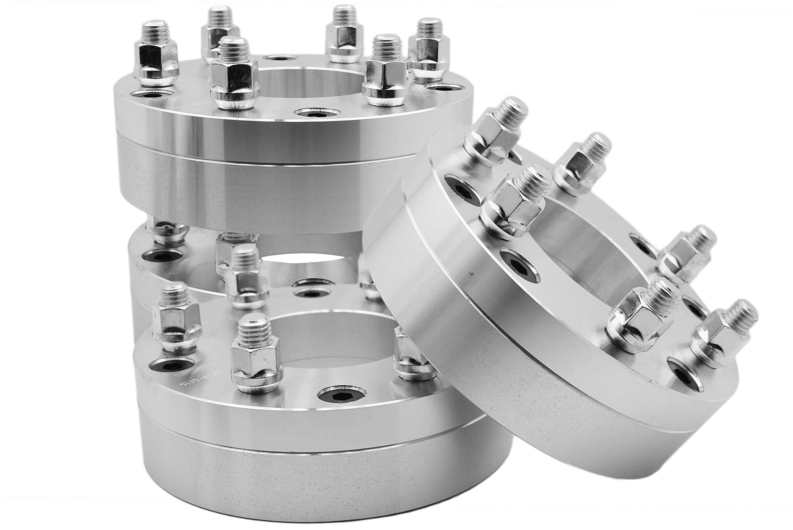 4 Pc 5x5 to 6x5.5'' 5 Lug To 6 Lug Wheel Spacers Adapters Conversion Bolt On 2'' Thick Trucks Heavy Duty 2 Piece Construction