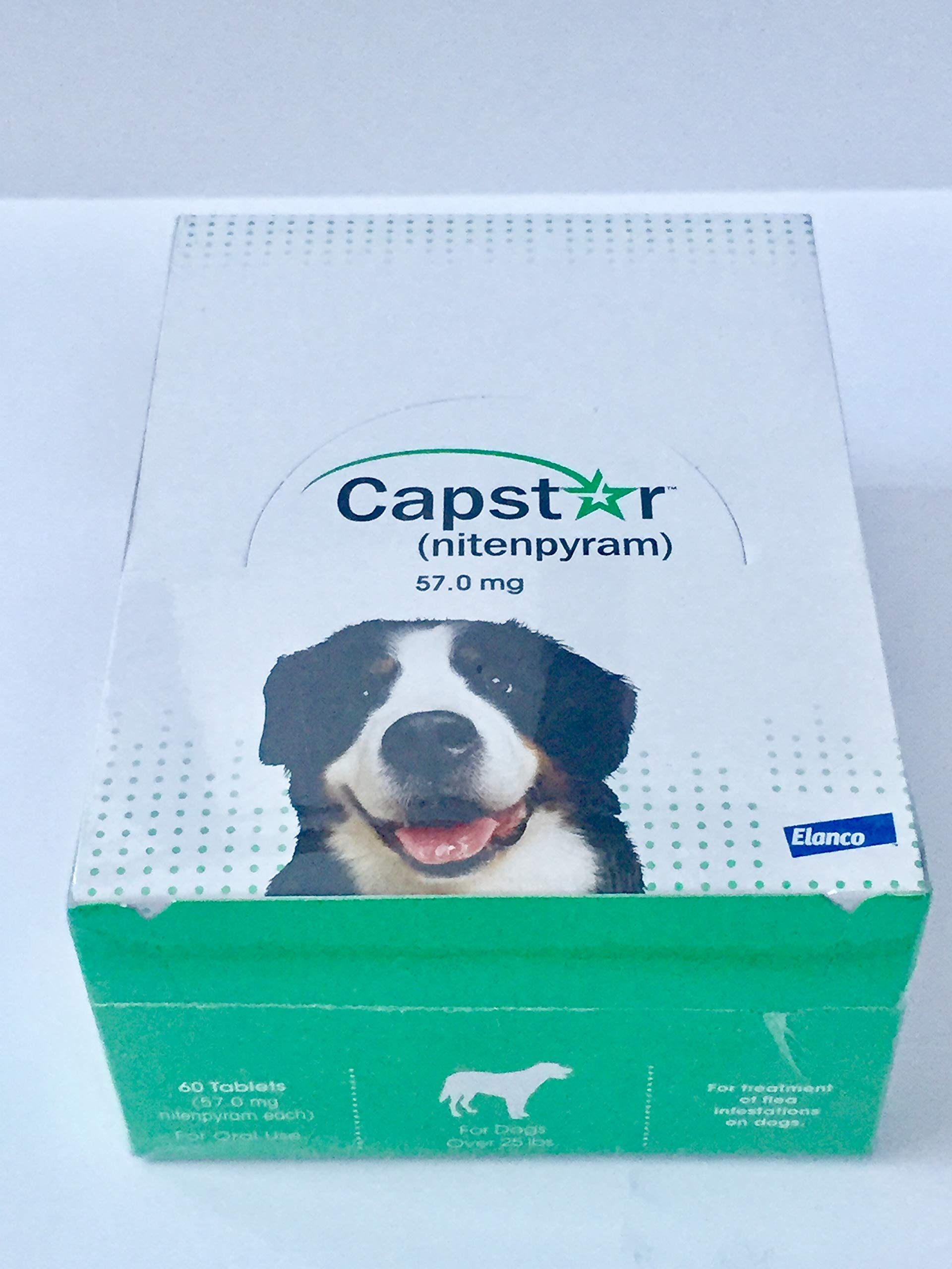 capstar (nitenpyram 57.0 mg Dogs Over 25 lbs (60 Tablets) by capstar (Image #1)