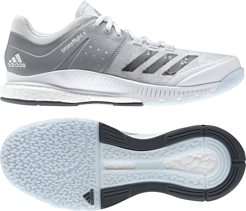 adidas Damen Crazyflight X W Volleyballschuhe, Weiß/Silber ...