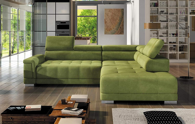 Campo L Modern Corner Sofa With Chrome Legs Faux Leather Fabric Right Amazon De Küche Haushalt