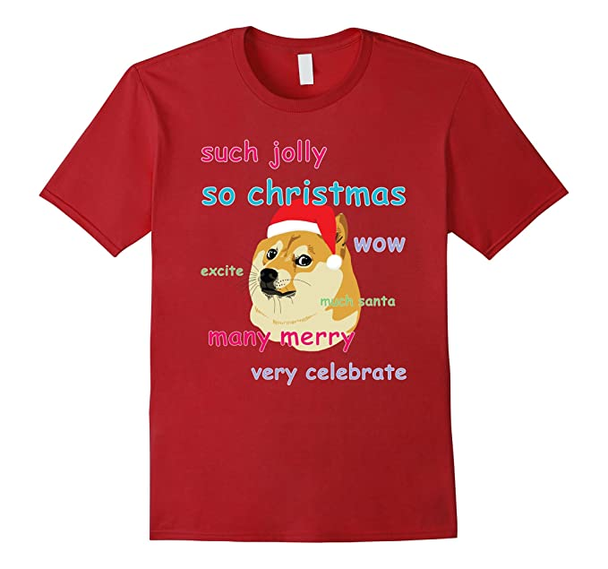 mens funny christmas dog meme shirt 2xl cranberry