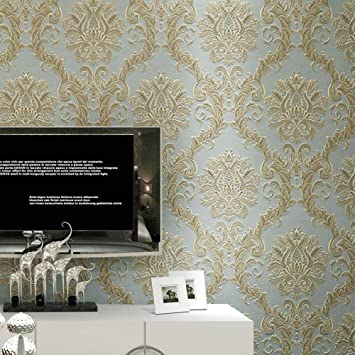 Rétro Papier Peint Luxe Europe Non Tissée Revêtement Mural Mur
