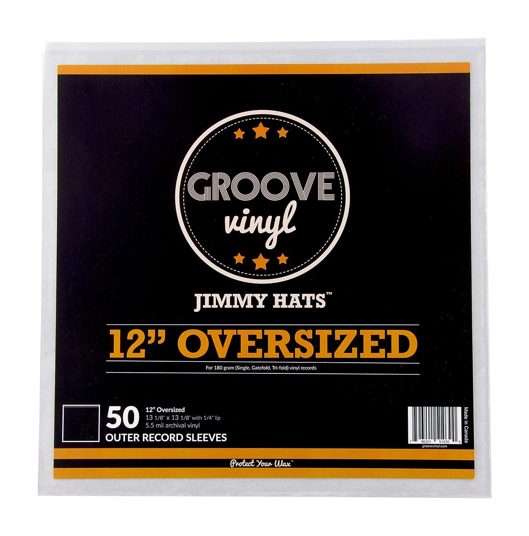 Groove Vinyl 12 Inch Gatefold LP Premium Outer Record Sleeves (50 Pack) GV-VJH13AV-50