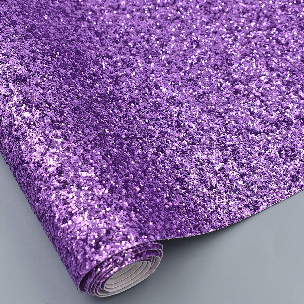 CHZIMADE 12inch x 53inch Chunky Leather Glitter Faux Fabric DIY Sheet Canvas Back Great for Hair Bows Making Craft by CHZIMADE (Image #3)