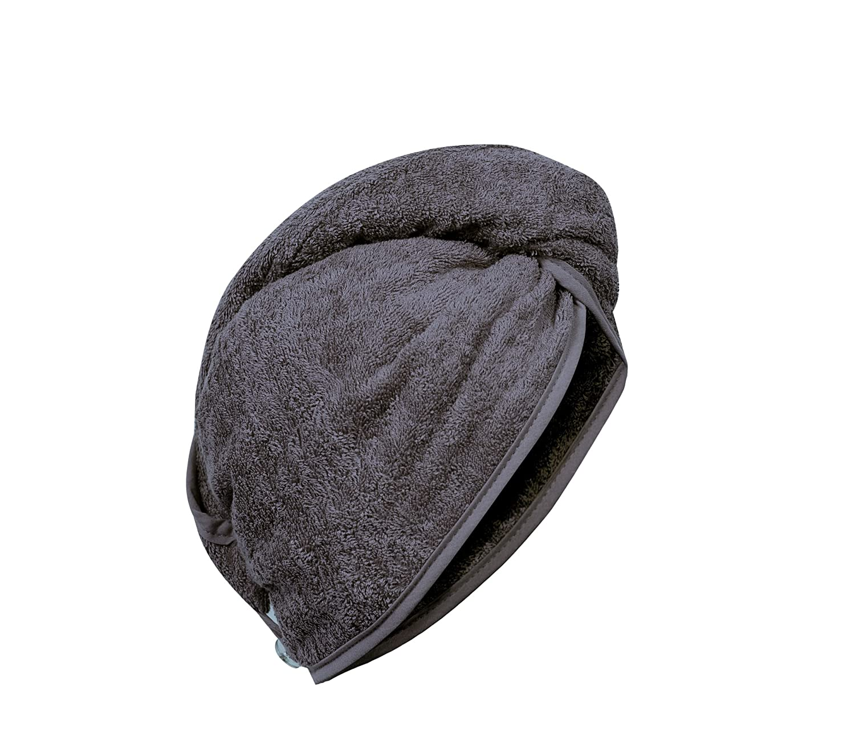 Carenesse cabello turbante blanco, 100% algodón, 24 x 70 cm, toalla para la cabeza, toalla para el cabello, turbante para el cabello