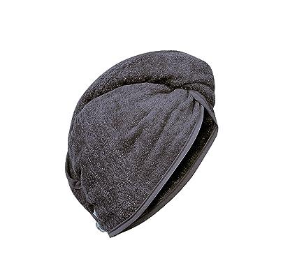 Carenesse cabello turbante blanco, 100% algodón, 24 x 70 cm, toalla para