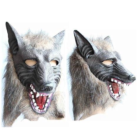 EnGive máscara de Halloween del hombre lobo Deco máscaras de terror (máscara de hombre lobo
