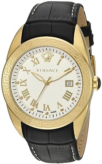 Versace Reloj Analógico para Hombre de Cuarzo con Correa en Cuero VFE130015
