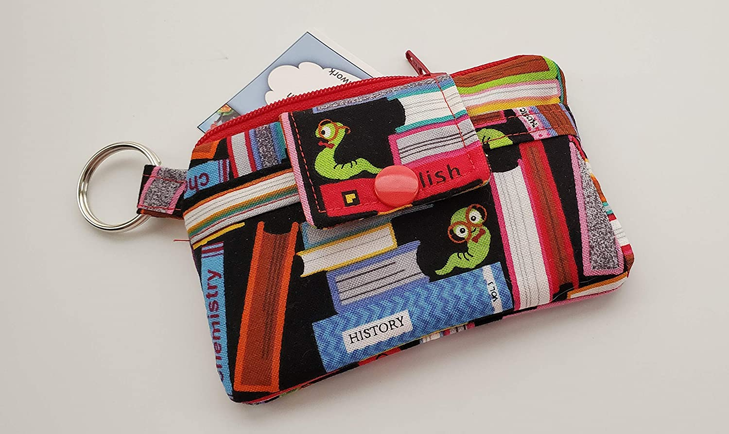 ZIPPERED Wallet--money cards toiletries Eyeglasses--Zippered Pouches--Coin Purse--Patchwork--hippie chic--paisleys--retro--boho Jewelry
