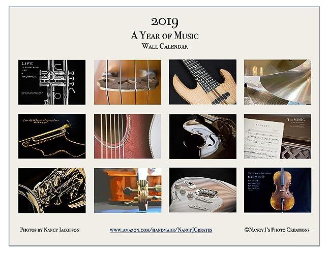 Music Calendar 2019 Amazon.com: 2019 A Year of Music Wall Calendar Fine Art Musical