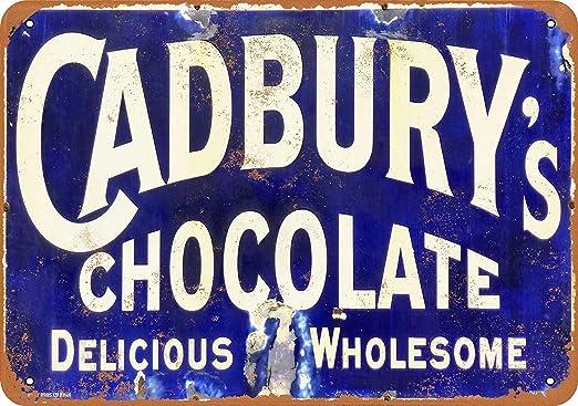 MNUT Cartel de Metal de Chocolate Cadburys de Aluminio de 8 ...