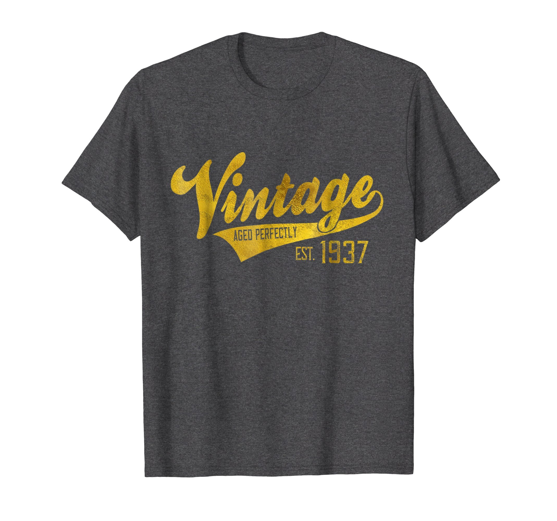 Vintage Est 1937 T Shirt 81 Yrs Old B Day 81st Birthday Gift
