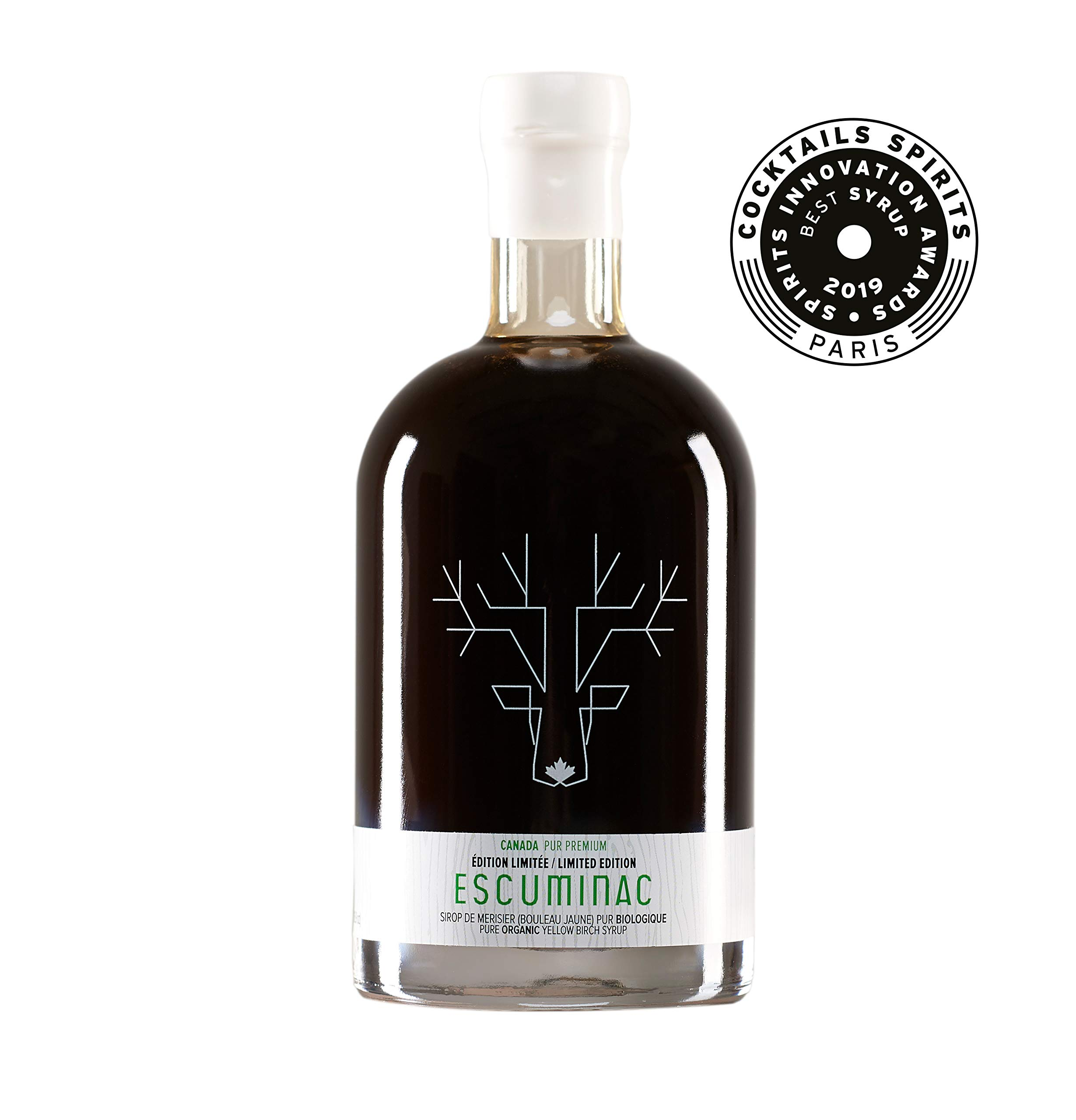 Award Winning Escuminac Canadian Yellow Birch Syrup - Dark Robust - Limited Edition - Pure Organic - SIAL Canada's Trends And Innovations Award 2011 (16.9 fl oz (500ml))