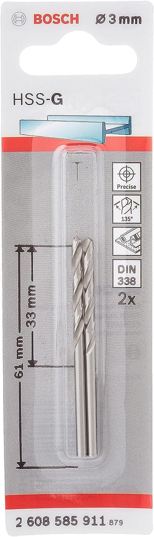 Spiralbohrer Metallbohrer 3Stück HSS Bohrer Ø 2,3mm
