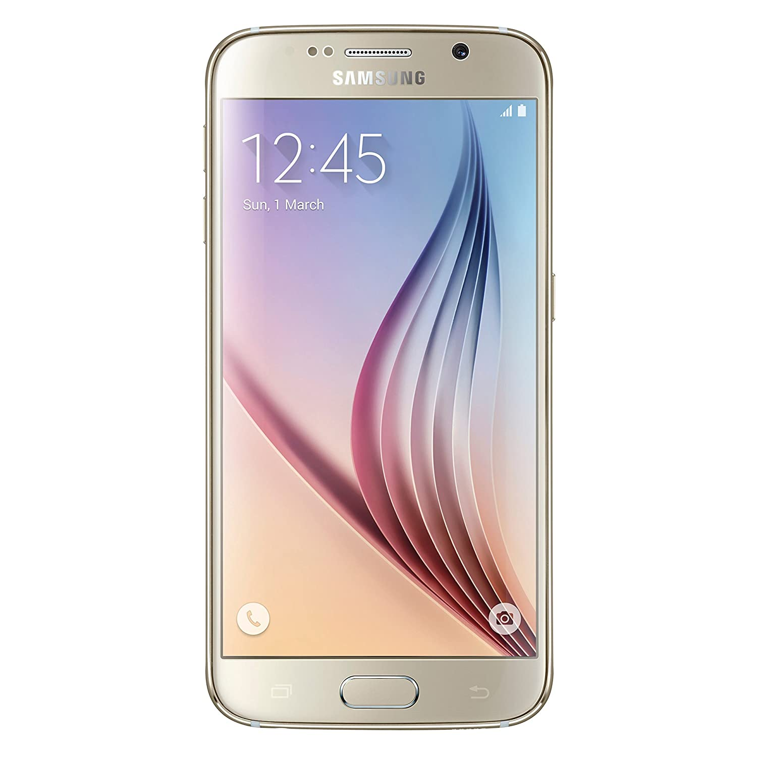 Amazon Samsung Galaxy S6 G920V 64GB Verizon CDMA 4G LTE Octa Core Smartphone w 16MP Camera Gold Certified Refurbished Good Condition Cell Phones