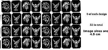 Birds Tattoo Stencil Collections (32 Tattoo Glitter Airbrush