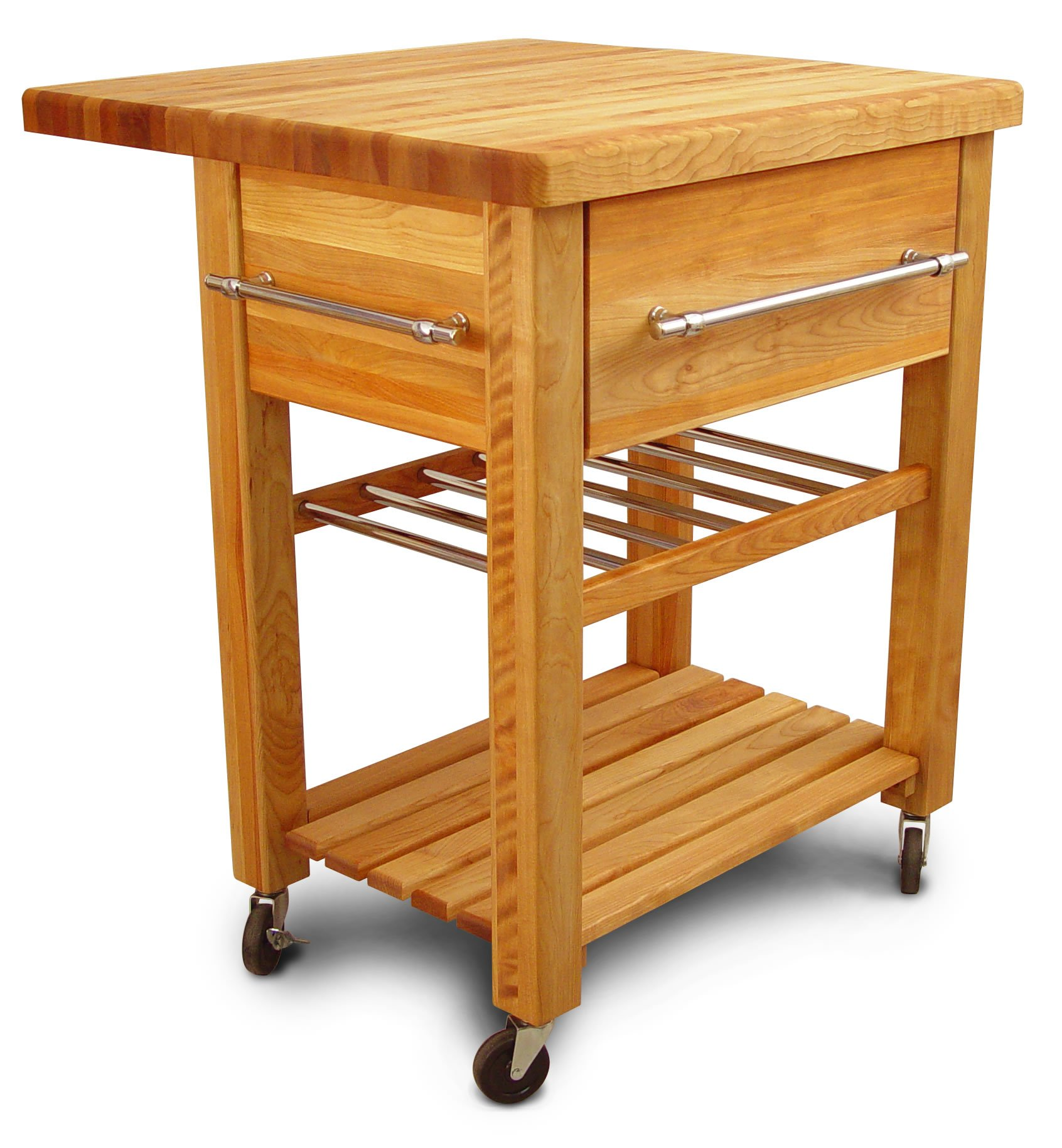 Catskill Craftsmen Baby Grand Workcenter with Drop Leaf and Wine Rack by Catskill Craftsmen