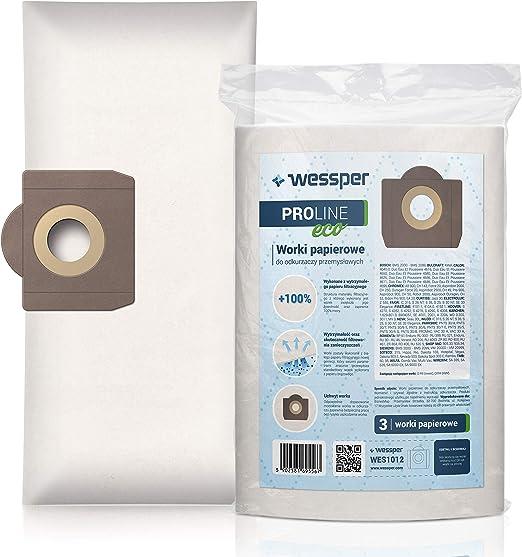 Paquete de 10 Bolsas de Papel para Filtro de Polvo 6.959-130.0 para aspiradora Karcher WD3 WD3P Wet & Dry de Repuesto: Amazon.es: Hogar