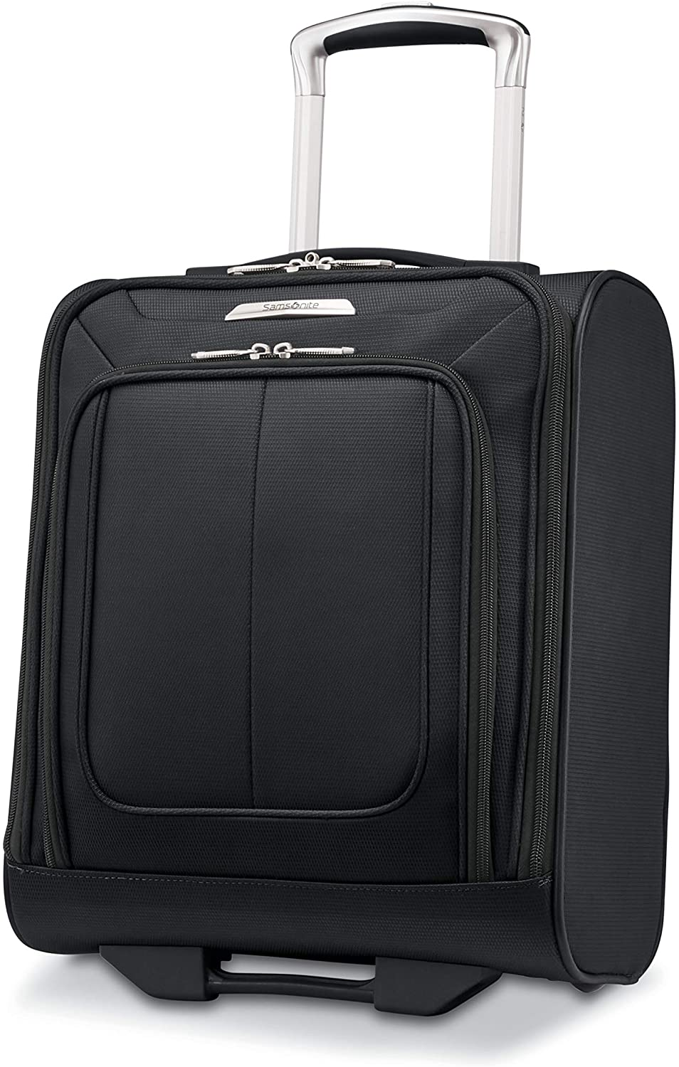 Samsonite Solyte DLX Softside Expandable Luggage with Spinner Wheels, Midnight Black, Underseater