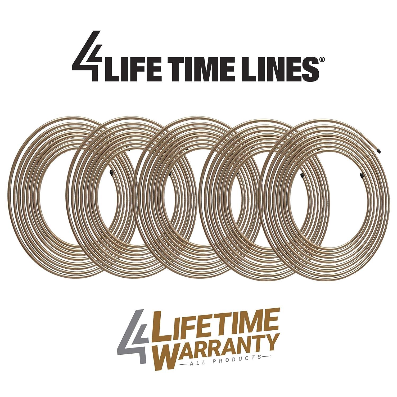 5 Coils Copper-Nickel Brake Line Tubing 5//16 x 25