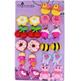 Big Size Generic Cute Lovely Cute Design Fashion Clip-on Earrings, Pack of 11 Pairs
