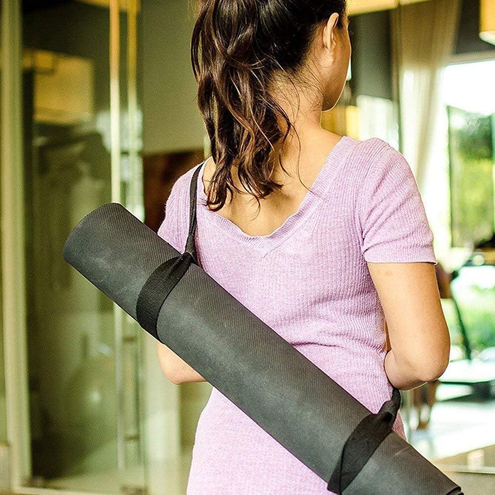 Etitulaire Yoga Mat Strap,Yoga Sangle de Transport Sling Tapis en Coton R/églable Durable Courroie de Transport pour Tapis de Yoga,Pilate et Gym Sangle Portable Tapis Yoga Sangle