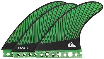 Quiksilver CBF-X - Juego de Aletas para Tabla de Surf, Color Verde,