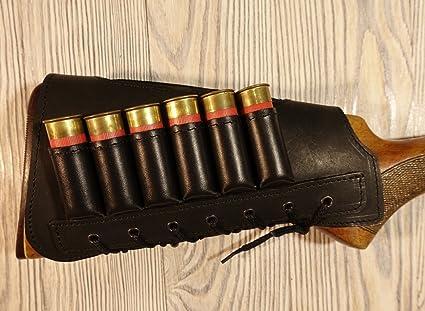 Amazoncom Vsdfvsdfv Leather Cartidge Buttstock Shotgun Shell