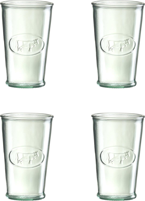 Amici Home Milk, Z7AI4474S4R, Juice De Fruit Italian DOF Glass, Set of 4, 11 oz, Clear