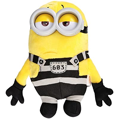 Despicable Me 3 Minions 5 Plush Buddy Jail Time Tom: Sports & Outdoors
