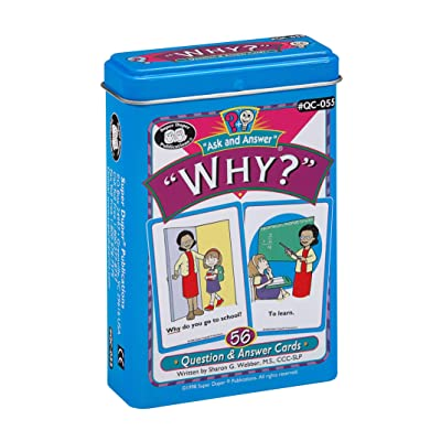 "Super Duper Publications Ask and Answer ""Why?"" Questions Card Deck Educational Learning Resource for Children: Toys & Games"