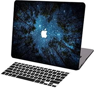KSK KAISHEK Laptop Case for 2018-2020 Release Newest MacBook Air 13 Inch with Retina Touch Bar Model:A1932/A2179,Plastic Ultra Slim Light Hard Shell Keyboard Cover,Woods and Starry